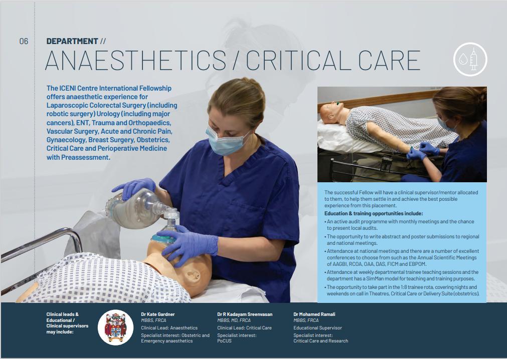 Anaesthetics & Critical Care