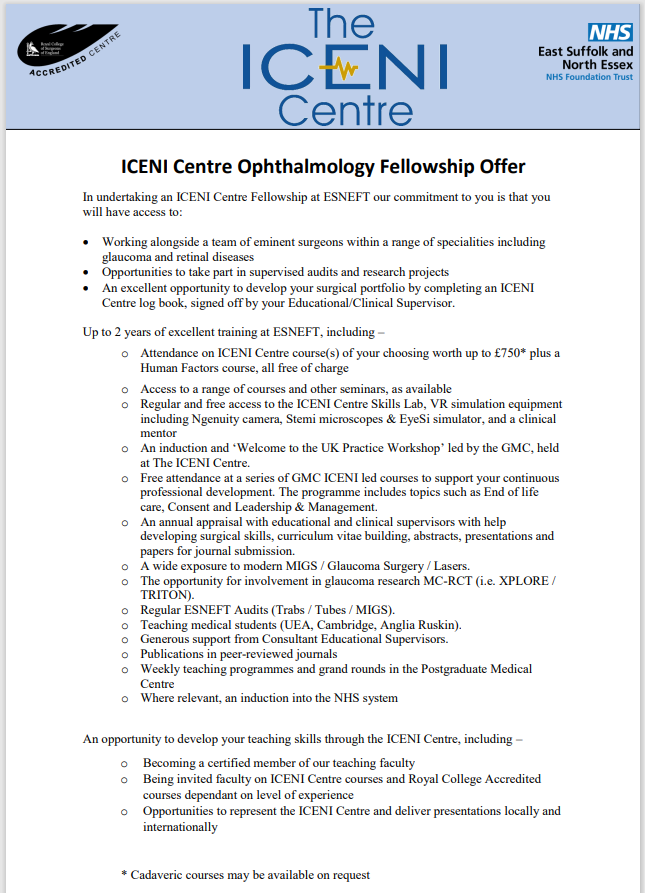 Ophthalmology Offer